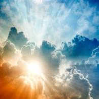 Солнце, небо, облака