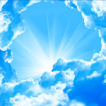Солнечная арка из облаков