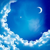 Новая луна в облаках
