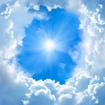 Солнечный круг в небесах