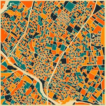 Карта Остина