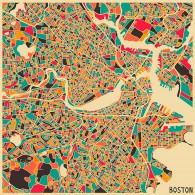 Карта Бостона
