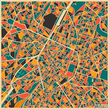 Карта Брюсселя
