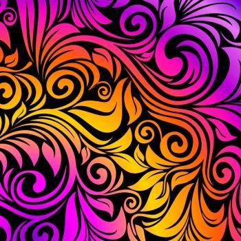 Яркий цветочный орнамент