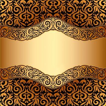 Орнамент черный на золотом