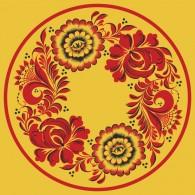Золотая хохлома и цветы