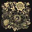Золотые цветы на черном