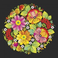 Петриковка цветы и ягоды