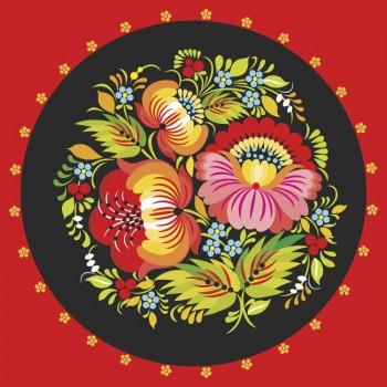Петриковский орнамент с цветами