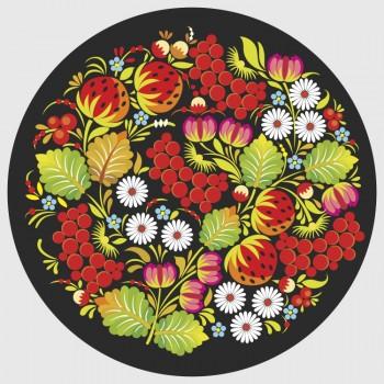 Петриковка , цветы и рябина