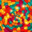 Яркий цветной витраж