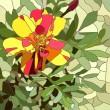 Цветы витраж