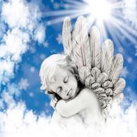 Ангел, небо, облака